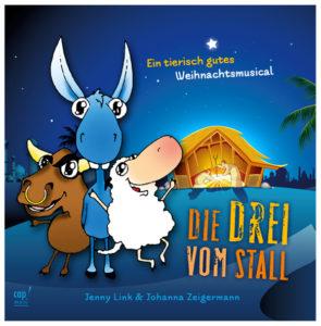 """Produkte: Cover der Weihnachtsmusical-CD """"Die Drei vom Stall"""""""