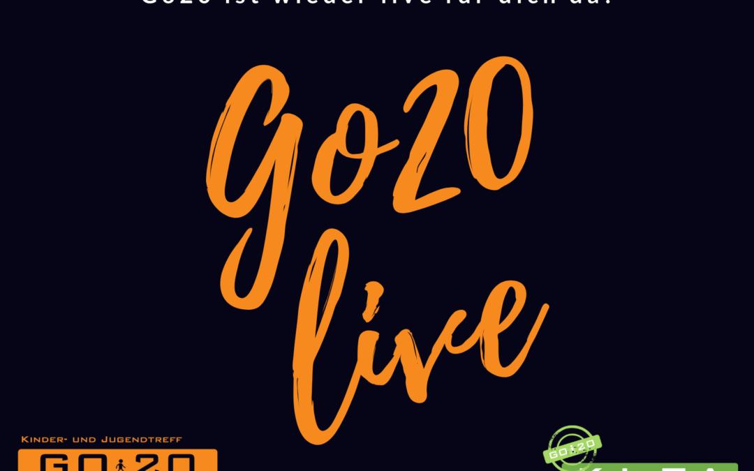 """Das Go20 ist wieder """"live"""" am Start!"""